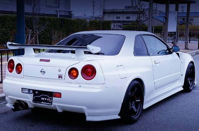 REAR EXTERIOR OF R34GT-R M-SPEC NUR