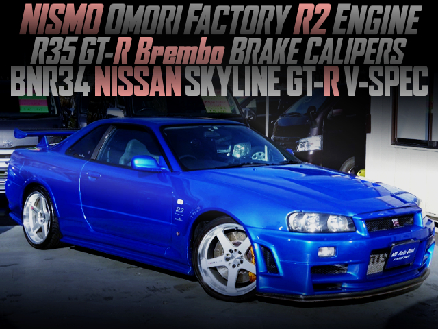 NISMO R2 ENGINE AND R35 Brembo INSTALLED R34 GT-R V-SPEC