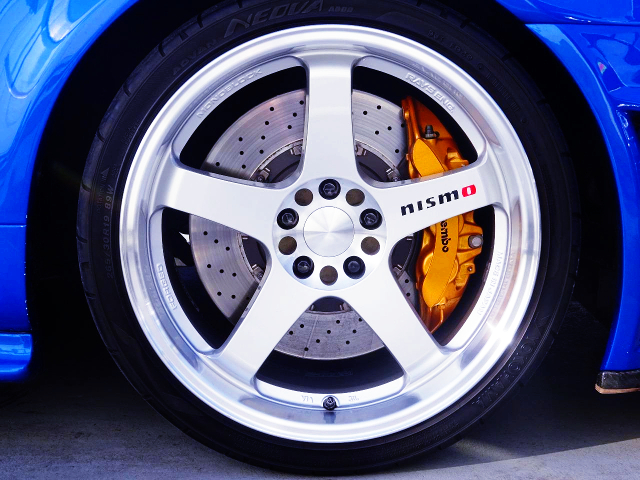 NISMO WHEEL AND R35 Brembo CALIPER
