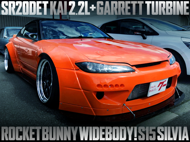 SR20DET 2200cc With GARRETT TURBO INTO S15 SILVIA ROCKET BUNNY WIDEBODY