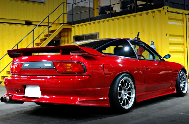 REAR EXTERIOR OF 180SX TYPE-X TO RED
