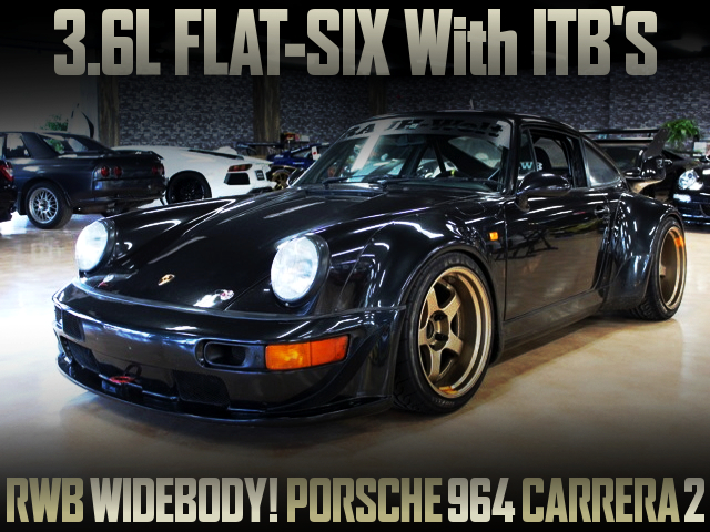 RWB WIDEBODY AND FALT-SIX 3600cc ENGINE With ITBs OF PORSCHE 964 CARRERA 2