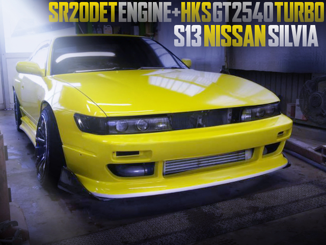 SR20DET With GT2540 TURBO INTO A S13 SILVIA WIDEBODY AND YELLOW