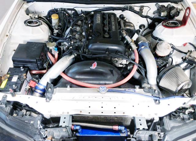 180SX KOUKI SR20DET TURBO ENGINE SWAP TO S15 ENG ROOM