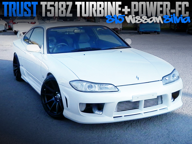 T518Z TURBINE AND POWER-FC OF S15 SILVIA TO WHITE COLOR