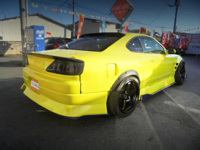REAR EXTERIOR OF S15 SILVIA WIDEBODY