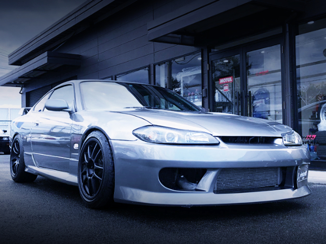 FRONT EXTERIOR OF S15 SILVIA TO SILVER COLOR