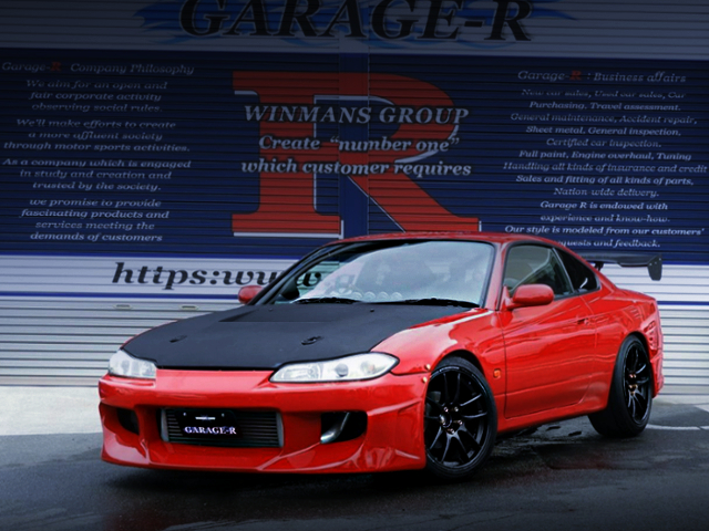 FRONT EXTERIOR OF S15 SILVIA TO RED COLOR
