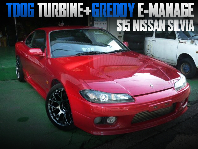 SR20DET With TD06 TURBO AND E-MANAGE INTO A S15 SILVIA TO RED