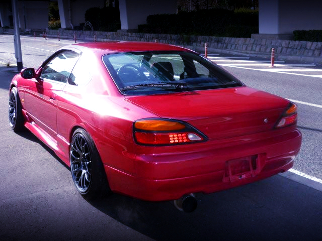REAR EXTERIOR OF S15 SILVIA RED