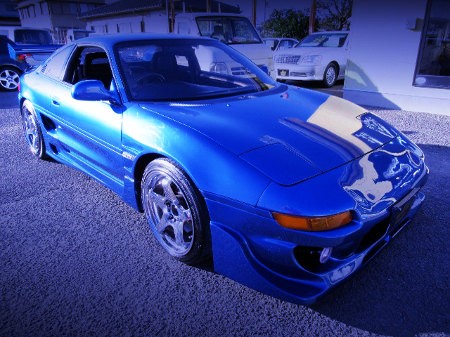 FRONT EXTERIOR OF SW20 MR2 BLUE
