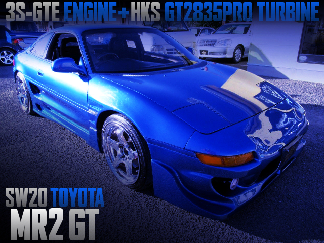 3S-GTE With HKS GT2835PRO TURBINE INTO SW20 MR2 GT OF WIDEBODY
