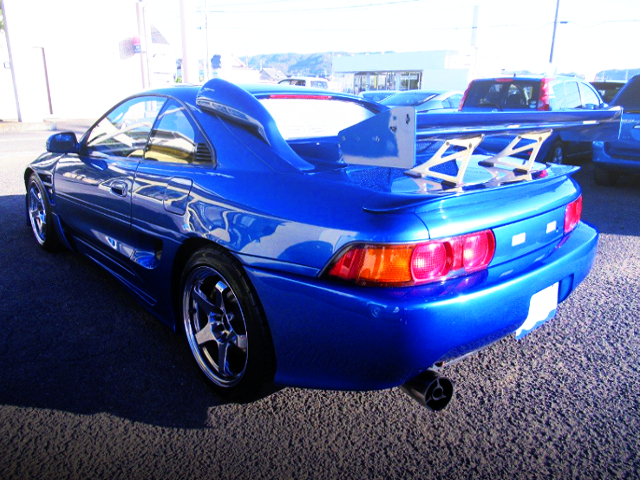 REAR EXTERIOR SW20 MR2 BLUE