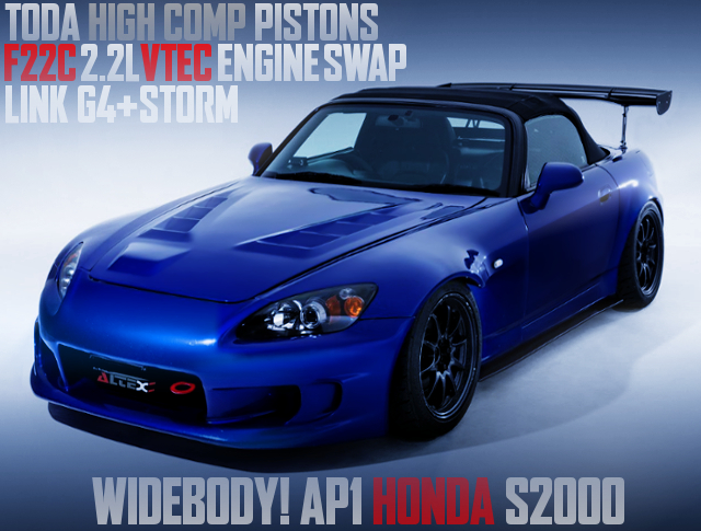 TODA HIGH COMP PISTONS INTO F22C VTEC SWAPPED AP1 S2000 WIDEBODY