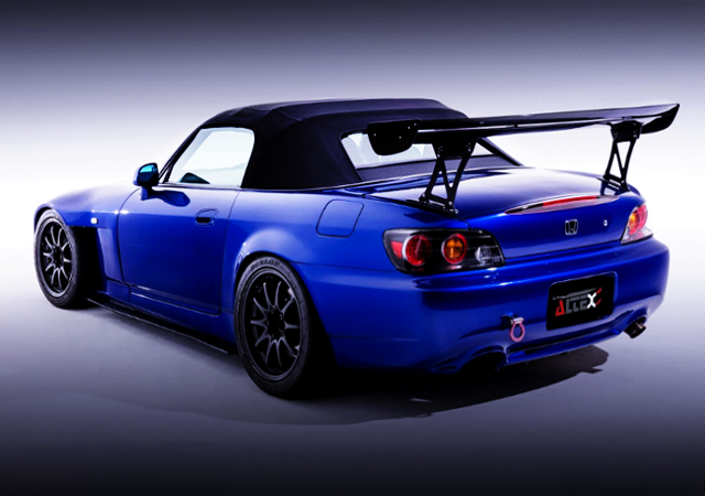 REAR EXTERIOR OF HONDA S2000 WIDEBODY AND BLUE PAINT