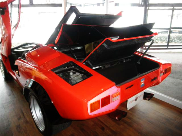 REAR ENGINE HOOD OPEN OF WOLF COUNTACH REPLICA MR-S