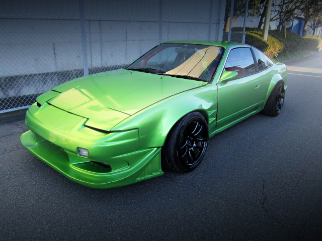 FRONT EXTERIOR OF 180SX TO LIGHT GREEN