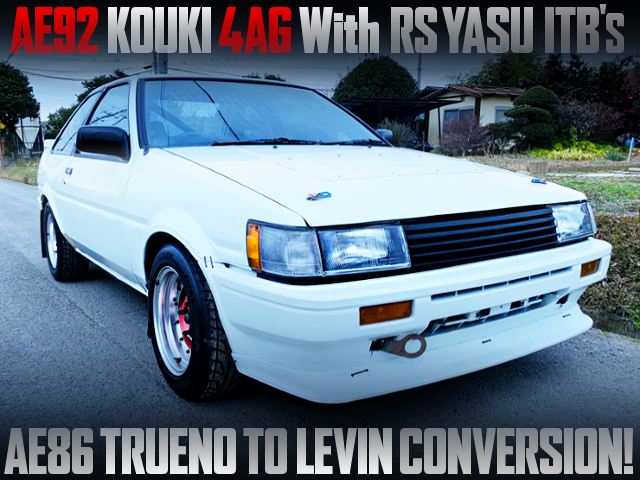ITB'S ON AE92 KOUKI 4AG INTO A AE86 TRUENO TO LEVIN CONVERSION.