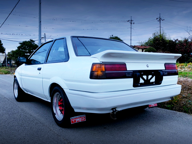 REAR EXTERIOR OF AE86 TRUENO TO LEVIN CONVERSION