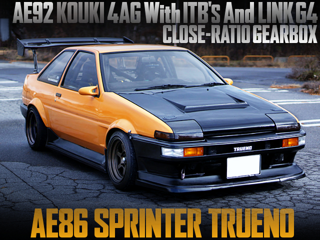 AE92 4AG With ITB'S AND LINK G4 INTO A AE86 TRUENO