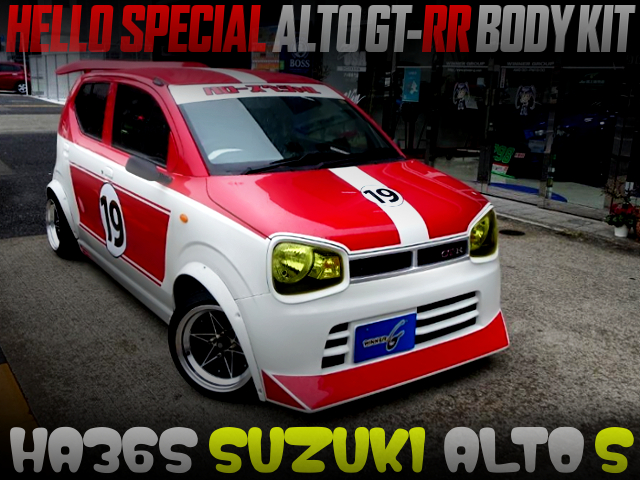 HELLO SPECIAL ALTO GT-RR BODY INSTALLED TO HA36S ALTO S