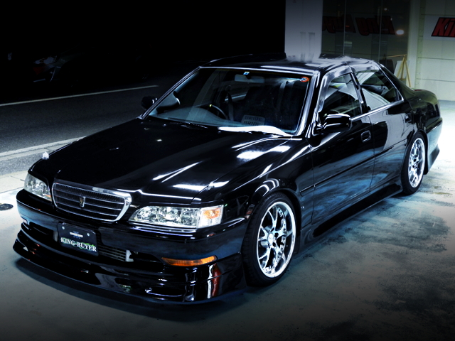 FRONT EXTERIOR OF JZX100 CRESTA TO BLACK PAINT