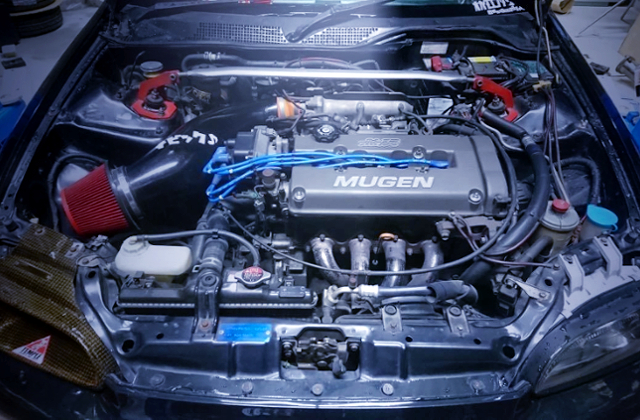 B16A VTEC ENGINE WITH MUGEN HEAD COVER