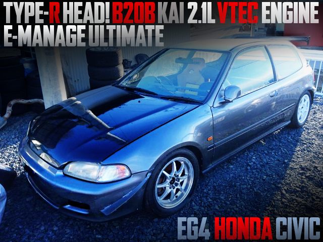 TYPE-R HEAD ON B20B KAI 2100cc VTEC INTO EG4 CIVIC HATCH VTI