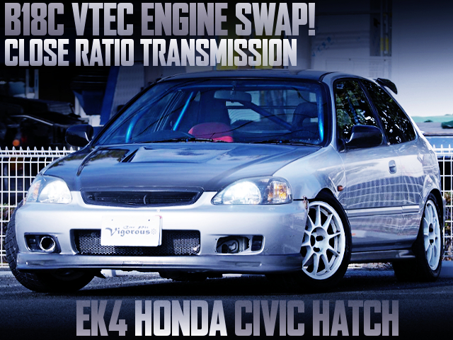 B18C SWAP AND CLOSE RATIO GEARBOX INSTALLED EK4 CIVIC HATCH