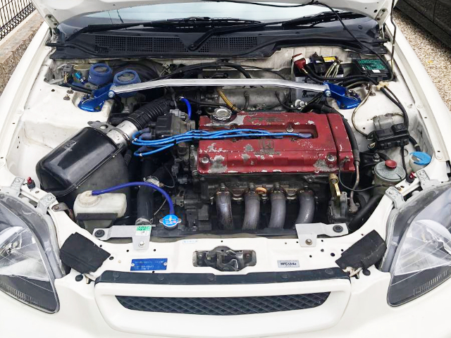 B18C VTEC ENGINE SWAP TO EK9 CIVIC TYPE-R ENGINE ROOM