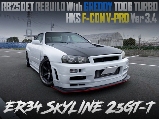 RB25DET REBUILD With TD06 TURBO INTO ER34 SKYLINE 25GTT