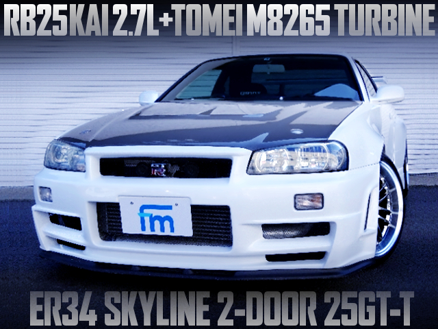 RB25 2700cc TOMEI M8265 TURBO INTO A ER34 SKYLINE 2-DOOR