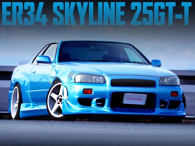 C-WEST BODY KIT AND WIDEBODY WITH ER34 SKYLINE 2DOOR 25GT-T