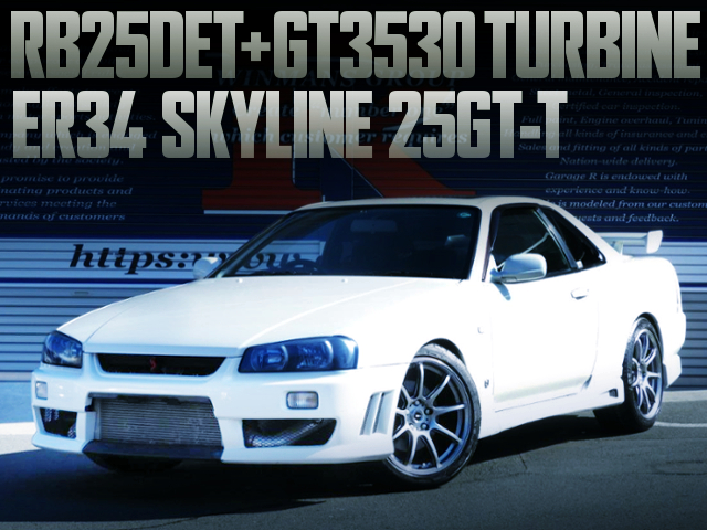 RB25DET With GT3530 TURBO INTO ER34 SKYLINE 2-DOOR