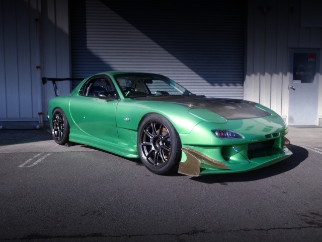 FRONT EXTERIOR OF FD3S RX7 TO GREEN METALLIC
