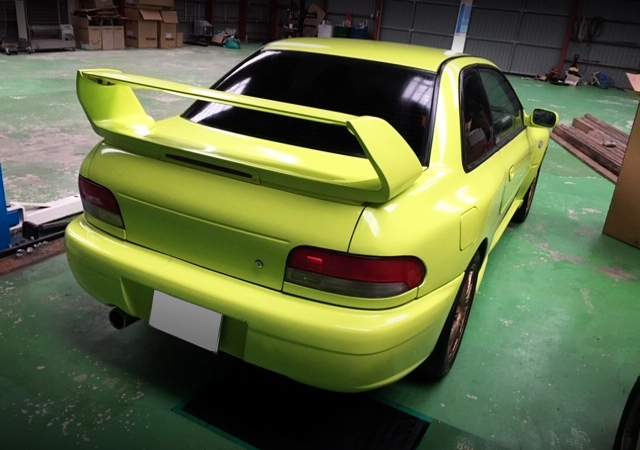 REAR TAIL LIGHT OF GC8 IMPREZA OF YELLOW