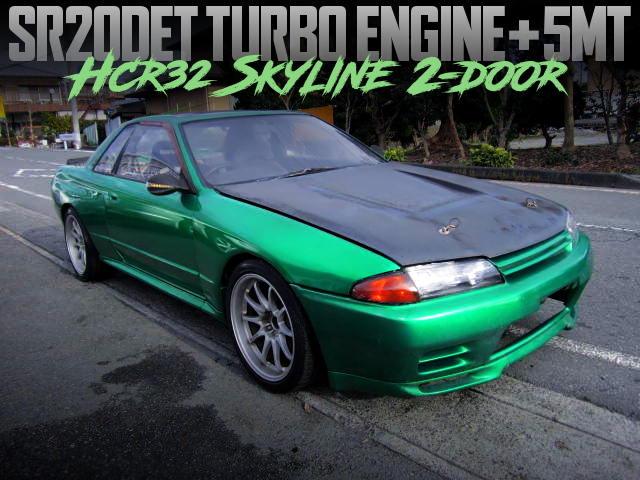 SR20DET AND 5MT SWAPPED HCR32 SKYLINE OF GT-R WIDEBODY