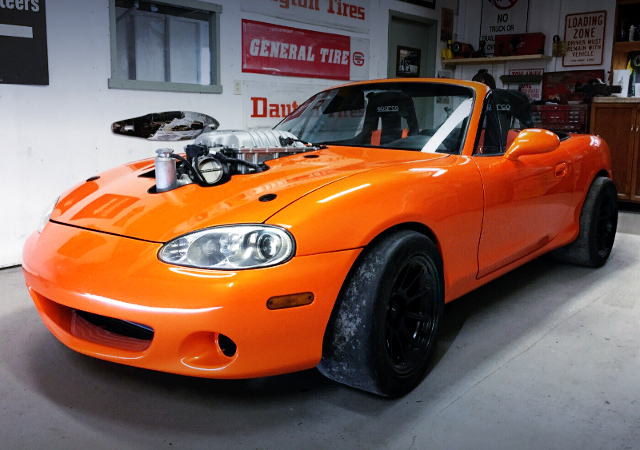 FRONT FACE OF NB MIATA TO ORANGE PAINT
