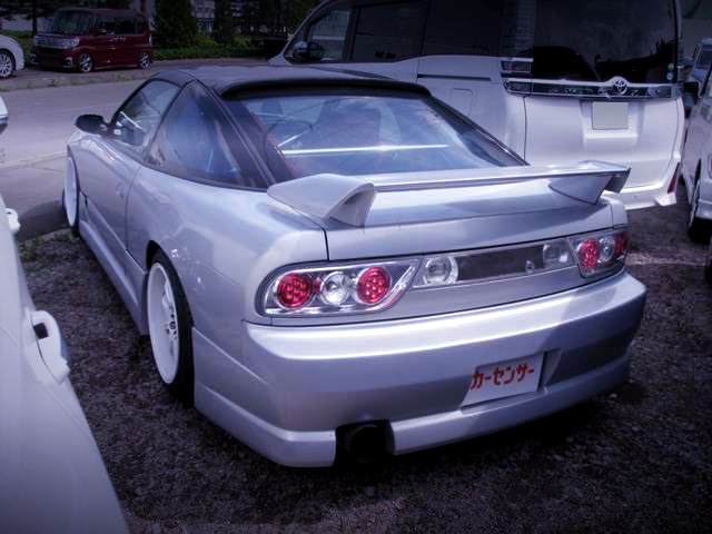 REAR EXTERIOR OF 180SX TO SILVER
