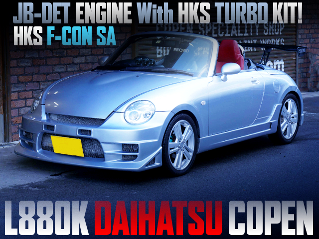 JB-DET With HKS TURBO KIT AND F-CON SA OF L880K COPEN