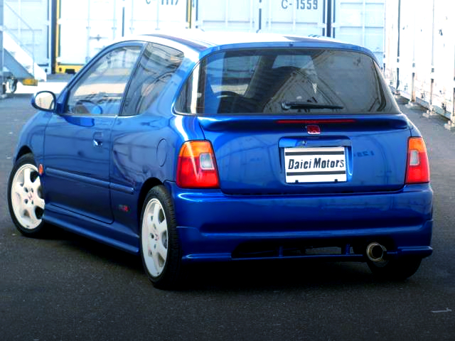 REAR EXTERIOR OF JA4 TODAY TYPE-R BLUE PEARL