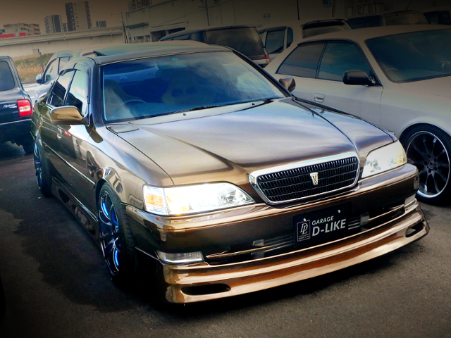 FRONT EXTERIOR OF JZX100 CRESTA TO BROWN COLOR