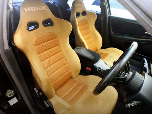 BRIDE SEMI BUCKET SEATS TO LIGHT BROWN