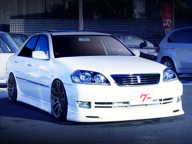 FRONT EXTERIOR OF JZX110 MARK2 iR-V WHITE