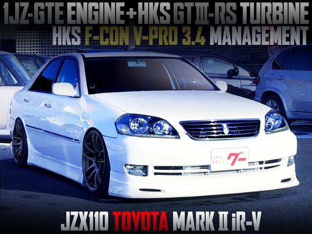 HKS GT3-RS TURBOCHARGED TO JZX110 MARK2 iR-V