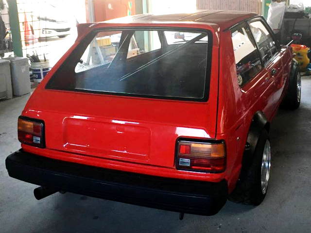 REAR EXTERIOR OF KP61 STARLET