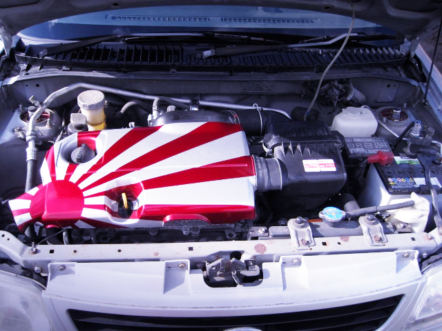K3-VE2 1300cc ENGINE AND JAPAN FLAG PAINT