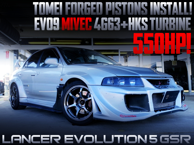 550HP MIVEC 4G63 SWAP With HKS TURBO OF EVO5 GSR WIDEBODY