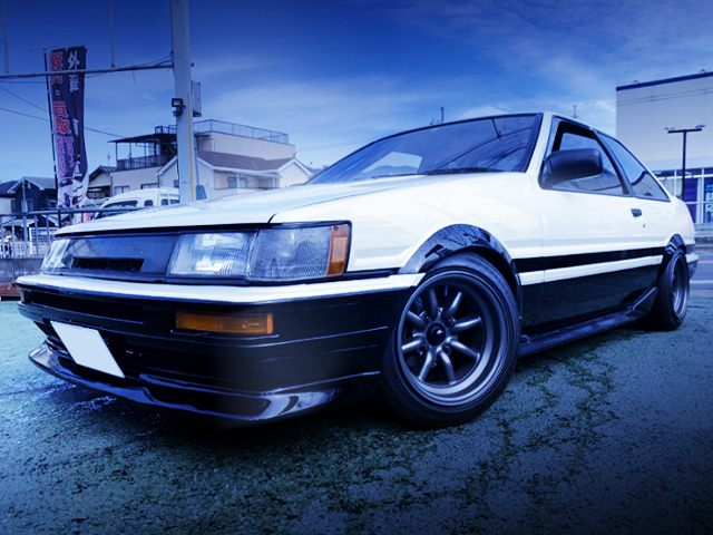 FRONT EXTERIOR OF AE86 TRUENO TO LEVIN FACE
