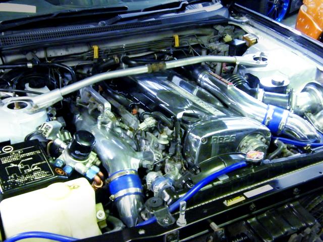 RB26DETT ENGINE CHROME COLOR